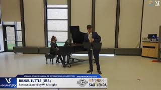 Joshua TUTTLE plays Sonate by W. Albright #adolphesax