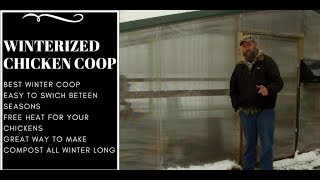 Cold Weather Chicken Coop  How To  Winterized Your Coop Heat Your Runcoop For Free Or Low Cost