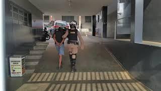Depois de cometer 5 furtos em 24 horas, polícia alcança suspeito em Patos de Minas.