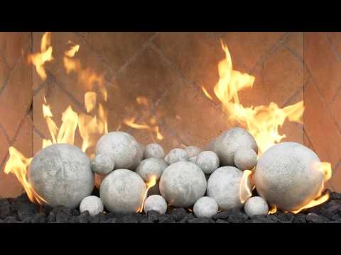 Grand Canyon Gas Logs Silver Cannon Fireballs