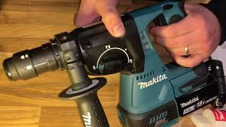 SDS und Standard Bohrfutter benutzen am Beispiel eines Makita Akku-Kombihammer DHR243Z DIY Anleitung