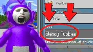 """DO NOT Play The SLENDYTUBBIES in MINECRAFT POCKET EDITION! (""""Slendy Tubbies Seed"""")"""