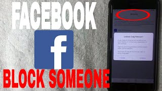What is to block someone on facebook