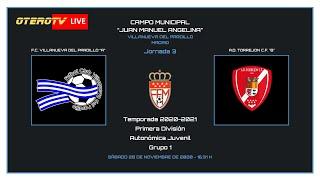 R.F.F.M. - PRIMERA DIVISIÓN AUTONÓMICA JUVENIL (Grupo 1) - Jornada 3 - F.C. Villanueva del Pardillo 0-1 A.D. Torrejón C.F.