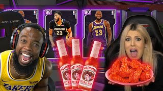 EXTREME HOT SAUCE WINGS PACK OPENING WITH MY GIRL! NBA 2K20 MyTeam
