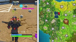 """""""Score a goal on different pitches"""" All Locations Fortnite Week 7 Challenges All Pitch Locations!"""