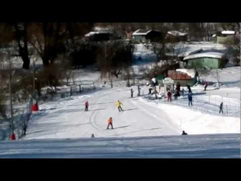 Видео: Видео горнолыжного курорта Куркино в Московская область