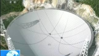 貴州平塘 世界最大射電望遠鏡主體工程即將完工:核心裝置饋源艙升艙調試