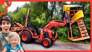 Tractors for Children Working with Daddy