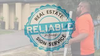 Real estate signage services