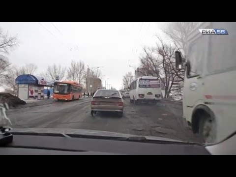 Дороги города Оренбург. Весна 2016