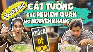 MC Cát Tường ghé thăm nhà hàng của MC Nguyên Khang