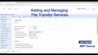 How To Add and Manage File Transfer Services