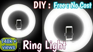 DIY : How To Make Ring Light For YouTube And Tiktok At Home ! Ring Light: