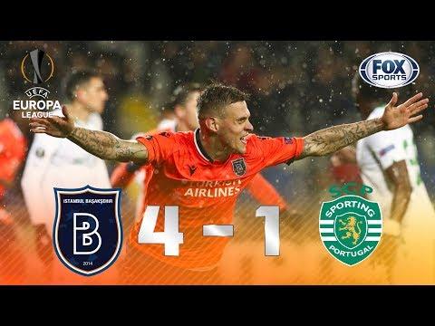 GOLEADA DE ROBINHO E CIA! İstanbul Başakşehir 4 x 1 Sporting pela Europa League