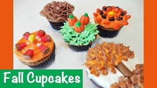 Simple to Make Fall Autumn Cupcakes with Jill