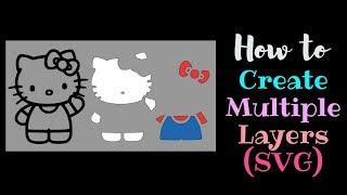 How to create Multiple Layers Multiple Colors | Cricut | Contour