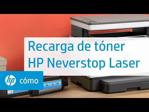 Cómo recargar el tóner con un kit de recarga de tóner de las impresoras HP Neverstop Laser serie 1000/MFP serie 1200, HP Laser NS serie 1020/MFP 1005