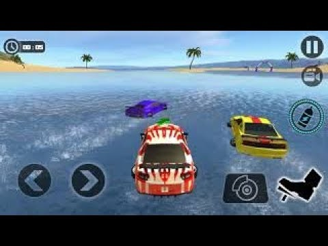 Water Surfer Car Floating Race 2017 : Car On Water -Android Gameplay 2018