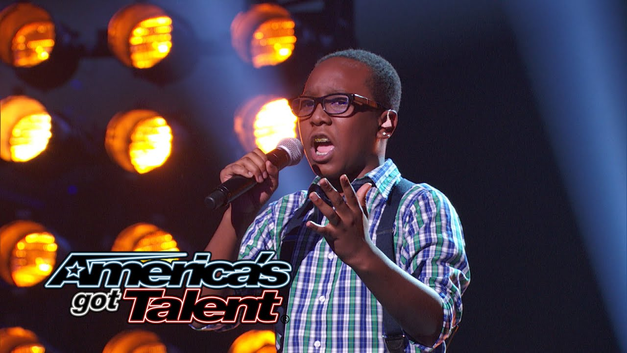 """Quintavious Johnson: 12-Year-Old Boy's Cool """"And I Am Telling You"""" Cover - America's Got Talent 2014 thumbnail"""