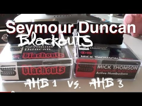 Seymour Duncan Blackouts: AHB-1 vs. AHB-3