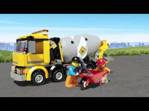 Vidéo LEGO City 60018 : La bétonnière