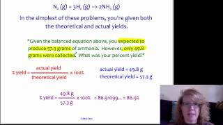 Percent Yield Stoichiometry