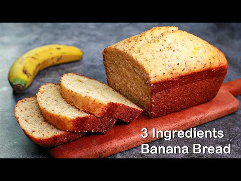 3 Ingredients Banana Bread in Lock Down | Eggless & Without Oven | Yummy