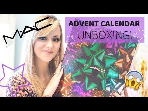 MAC ADVENT CALENDAR 2018 UNBOXING!  - LADY WRITES