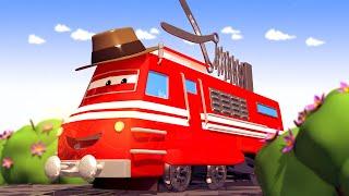 Vláčky pro děti - Stříhací Vlak Troy se prostříhal plevelem!