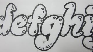 How To Draw Lower Case Letters - Bubble Letters