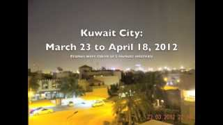 preview picture of video 'Kuwait City: 3 Weeks of Local Weather in 3 Minutes'