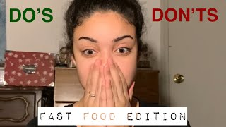 DO'S AND DONT'S WORKING IN FAST FOOD || FIRST JOB TIPS