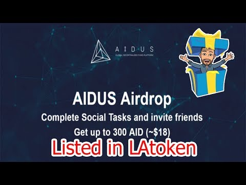 💢JÁ LISTADO💢 Ganhe $6 dólares no Airdrop AIDUS na LAtoken!