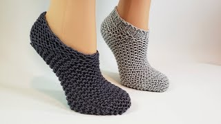 Knit Squishy Slipper Socks Knitting Pattern Tutorial