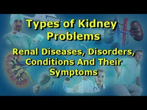 Video Kidney Problems - Diseases, Disorders, Conditions And Their Symptoms