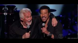 YouTube video E-card Lionel Richie And Kenny Rogers Lady Watch This Aswell
