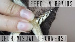 How To Do Feed In Braids | For Visual Learners