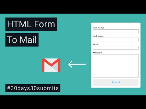 HTML Form to Mail   Create Full Functional HTML Form Without Any Back-end