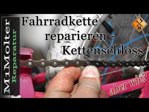 Fahrradkette reparieren mit  Kettenschloss Anleitung von M1Molter