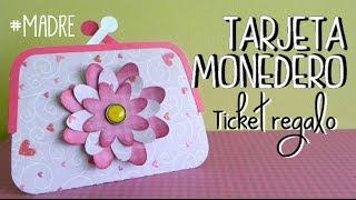 Día de la madre: Tarjeta regalo con forma de monedero