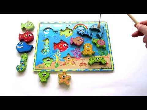 """Развивающие занятие: """"Рыбалка"""" для детей 1-3 года. Учим цвета и счет от 1 до 12"""