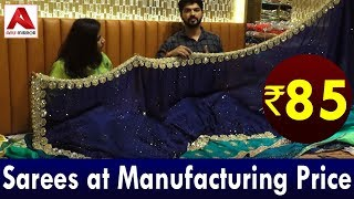 Sarees At Manufacturing Price Rs85|Fancy Work Designer Daily Wear Sarees Wholesale Market In Surat