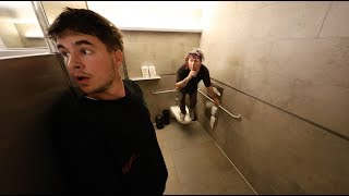We Stayed Overnight In A Public Restroom