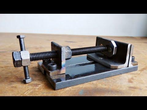 Make A Metal Mini Drill Vise || DIY HomeMade Tool