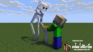 Minecraft animations battles: SCP-096 vs. Baldi. TigerEye35