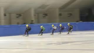 ショートトラック2018全日本距離別男子500m準決勝2組