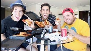 HOT CHICKEN MUKBANG WITH DAVID DOBRIK AND JONAH!!