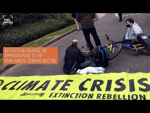 Drax Annual General Meeting disrupted by climate activists