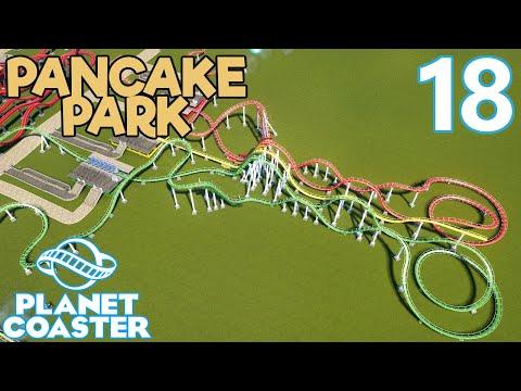 Planet Coaster PANCAKE PARK - Part 18 - TRIPLE COASTER PROGRESS